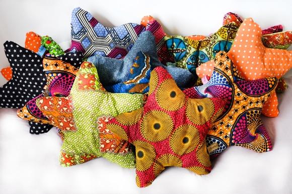 """Coussins""""Estrela"""" 100% coton, rembourrage en polyester recyclé"""
